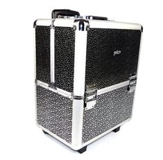 Geko Beautician Make-up Trolley Box Black + Silver Stars N0045. Beautician Makeup Trolley Box Black + Silver Stars. Ideal for makeup, nail varnish, hair accessories or any other items which require stylish, functional storage. This is a premium Case.