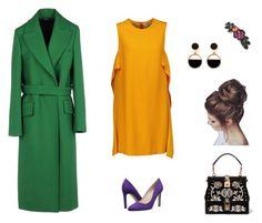 """Триада"" by elleaddams on Polyvore featuring мода, Jil Sander, MSGM, SJP, Dolce&Gabbana, 1928 и Warehouse"