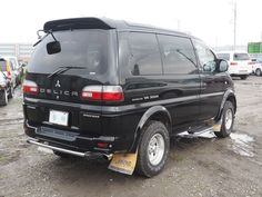 2000 Mitsubishi Delica super exceed.  My latest auction purchase - at the holding lot in Japan.