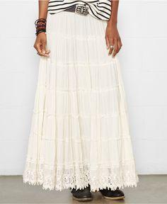 Denim & Supply Ralph Lauren Tiered Maxi Skirt - Skirts - Women - Macy's