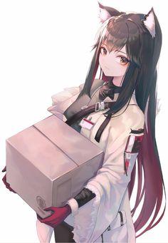 Anime Girl Neko, Manga Girl, Anime Chibi, Fille Anime Cool, Art Anime Fille, Lolis Neko, Anime Wolf Girl, Cool Anime Girl, Beautiful Anime Girl
