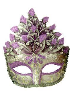 Colombina Leaf Venetian Mask (Lilac)