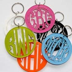 Lookie ... It's Spring at Chick's Picks March 14-17! Just Beautiful! Monogram Key Chain.