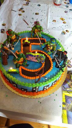 Ninja turtle birthday cake!                              …