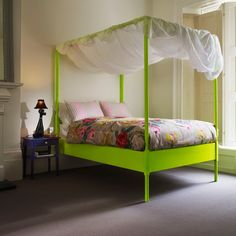 Add a touch of playfulness to your bedroom #decor with a bit of neon.