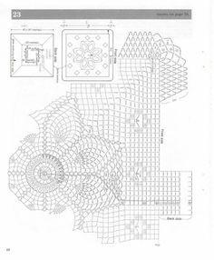 Декоративні подушки PINEAPPLE LACE гачок схема 1