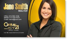 Century 21 Realty Business Card Template