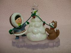 Vintage CHRISTMAS Ornament Hallmark FROSTY Eskimo Friends