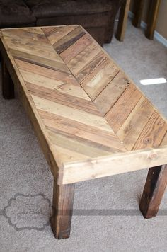 Chevron Pallet Coffee Table chevron reclaimed pallet wood coffee table with metal hairpin legs