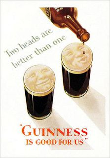 Guinness-2-heads by jbrookston, via Flickr