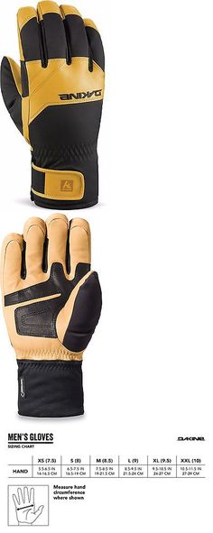 Gloves and Mittens 62172: Dakine Excursion Mens Gore-Tex Snowboard/Ski Gloves Black/Tan Large New 2017 BUY IT NOW ONLY: $89.95