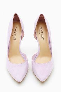 Lavender heels.  No big deal.