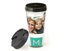 Travel Mug- i might have a problem! I want everything i can plaster my kids faces on!!