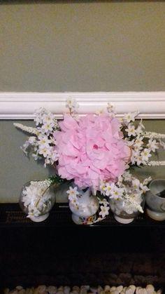 Paper flower to brighten up plain display