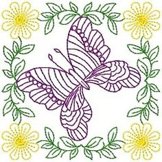 Butterfly Fancy Blocks Set - 4x4 | Quilt | Machine Embroidery Designs | SWAKembroidery.com Splinters and Threads