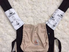 Black and White Arrows and TeePees Tribal Baby Carrier Drool Pad for Ergo, Tula #KIKENBaby