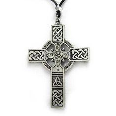 Large Celtic Knotwork Irish Cross Pendant Renaissance Neckless Christian Catholic Jewelry: Jewelry: Amazon.com