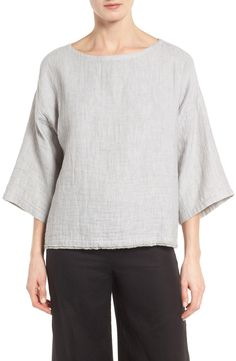 Eileen Fisher Double Weave Organic Linen