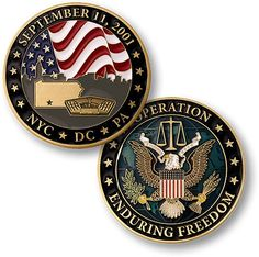 Operation Enduring Freedom September 11 2001 Brass Challenge Coin | eBay