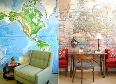 map wallpaper  Good Bones, Great pieces