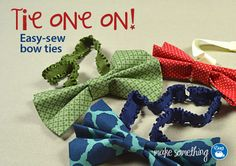 This easy-sew bow tie tutorial from @Dritz Sewing is amazing! Can't wait to make some!