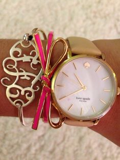 Love this Kate Spade watch... and the bow bracelet... and of course the monogram!
