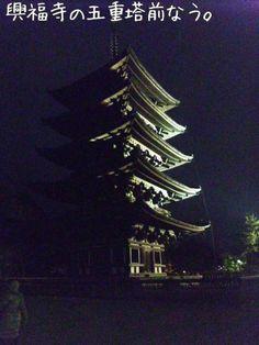 11/01/22 興福寺の五重塔前なう。