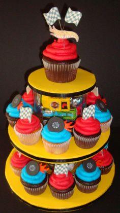 Hot Wheels Cupcake Tier