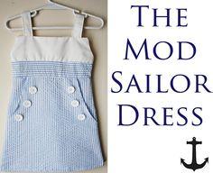 The Mod Sailor Dress by ohsohappytogether, via Flickr