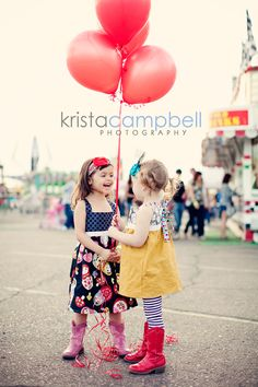 Little girls at a carnival