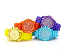 Colorful watches...
