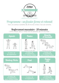 Yoga Fitness Flat Belly programme-fessier-ferme-rebondi - There are many alternatives to get a flat stomach and among them are various yoga poses. Yoga Fitness, Circuit Fitness, Circuit Training, Health Fitness, Fitness Sport, Fitness Watch, Fitness Goals, Videos Yoga, Workout Videos
