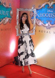 Sonam Kapoor at the Khoobsurat trailer launch.
