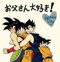 Bardock, Goku, Gohan, and Goten