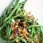 parmesan & toasted almond green beans
