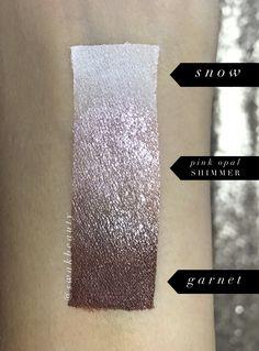 ShadowSense Trio! Snow, Pink Opal Shimmer, Garnet Independent Senegence Distributor #348931 @swakbeauty swakbeauty.com
