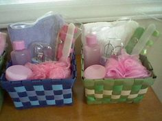 Spa Theme Party Favor Baskets by ShopCreativeDesigns on Etsy, $6.00