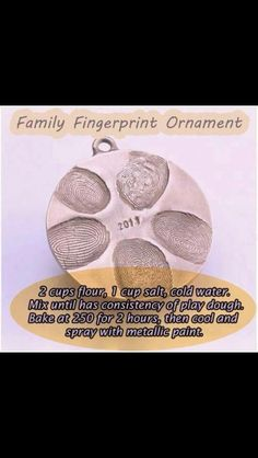 Christmas ornament for the whole family. I plan on doing this with my mom, sister, and Grandmother