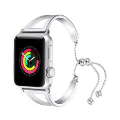 Apple Watch Series 5 4 3 2 Band, Luxury Cuff Stainless Steel Adjustable Bracelet Watchband Women - US Fast Shipping - Arm Love Time 2020 Apple Watch Cuff, Apple Watch Wristbands, Apple Watch Bracelets, Best Apple Watch, Rose Gold Apple Watch, Apple Watch Faces, Apple Watch Bands 42mm, Apple Watch Series, Bracelet Watch