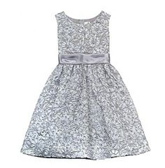 Product: Rare Editions® Girls' 7-16 Silver Floral Soutache Dress