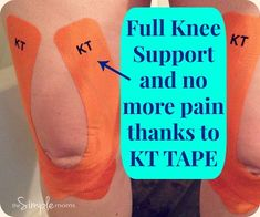 Knee Support with KT TAPE | the SIMPLE moms | Flickr Kt Tape Knee, Knee Taping, Knee Meniscus, Tendon D'achille, Knee Pain Exercises, Stretches, Arthritis Exercises, Swollen Knee, K Tape