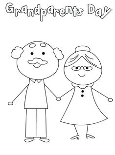 Grandparents day is September Show your grandparents how much you love them with a gift from the heart. A page colored just by you. An award. A printable card or sign. We have some great choices of Grandparents Day Coloring Pages. Print them for free, Grandparents Day Preschool, Grandparents Day Cards, National Grandparents Day, Kind Photo, Printable Coloring Sheets, Grands Parents, Fathers Day Crafts, Grandparent Gifts, Printable Cards
