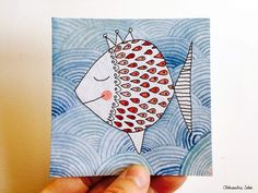 Peinture originale à l'encre et aquarelle Format 10x10cm Papier 425g/m2 Prix: 15€ All rights reserved Aleksandra Sobol 2015