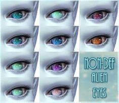 My Sims 4 Blog: Nebulosa - 10 Olhos Não-padrão estrangeiro (também para os seres…