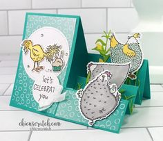Fancy Fold Cards, Folded Cards, Side Step Card, Step Cards, Stamping Up Cards, Card Tutorials, Anniversary Cards, Wedding Anniversary, Cool Cards