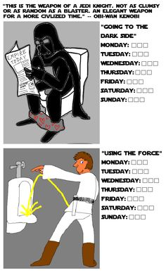 a Star Wars potty chart.... I found this waaaay funnier than I should.  LOL
