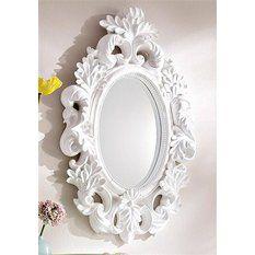 """Miroir ovale style baroque à suspendre """"Home Affaire"""""""