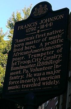 Francis Johnson.  This marker is located at 65 South 4th Street.