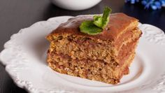 Orechovo-kakaový zákusok Meatloaf, Banana Bread, Cake, Food, Basket, Kuchen, Essen, Meals, Torte