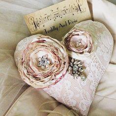 Vintage Shabby French Wedding ring bearer by Tealillyandrose